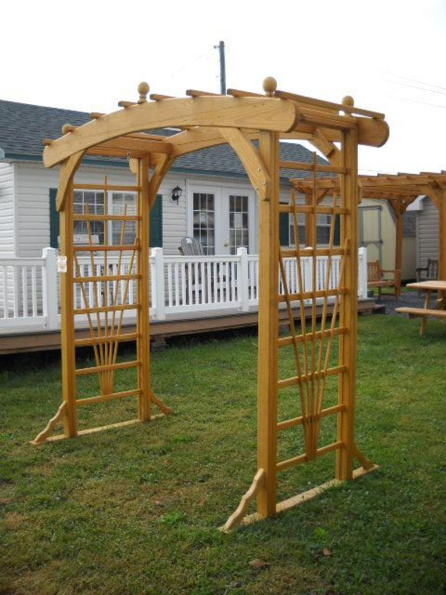 amish crafted wood arbors in 4ftand 8ft width pine creek structures