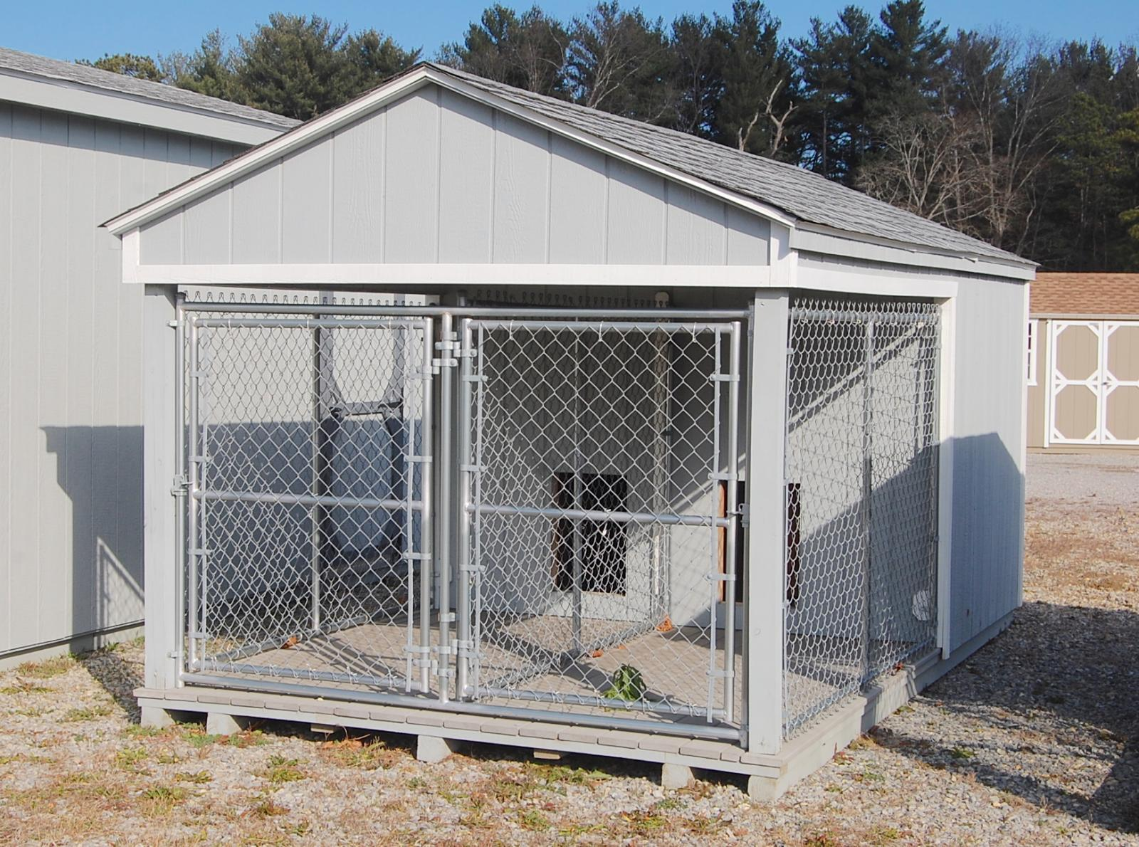 8x14 Large Double Kennel Pine Creek Structures