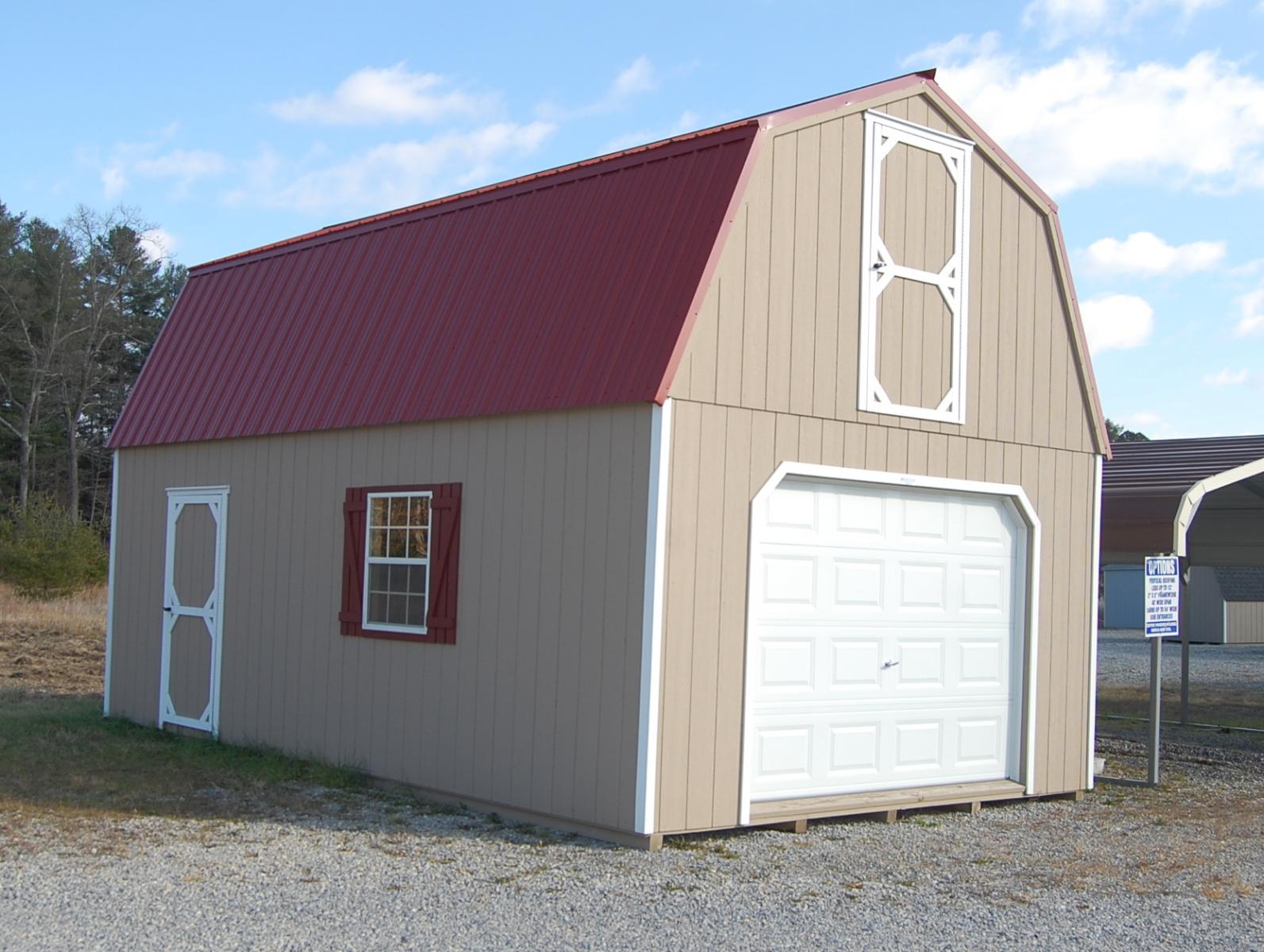 14x24 2 story gambrel barn sg30176 pine creek structures for Gambrel barn prices