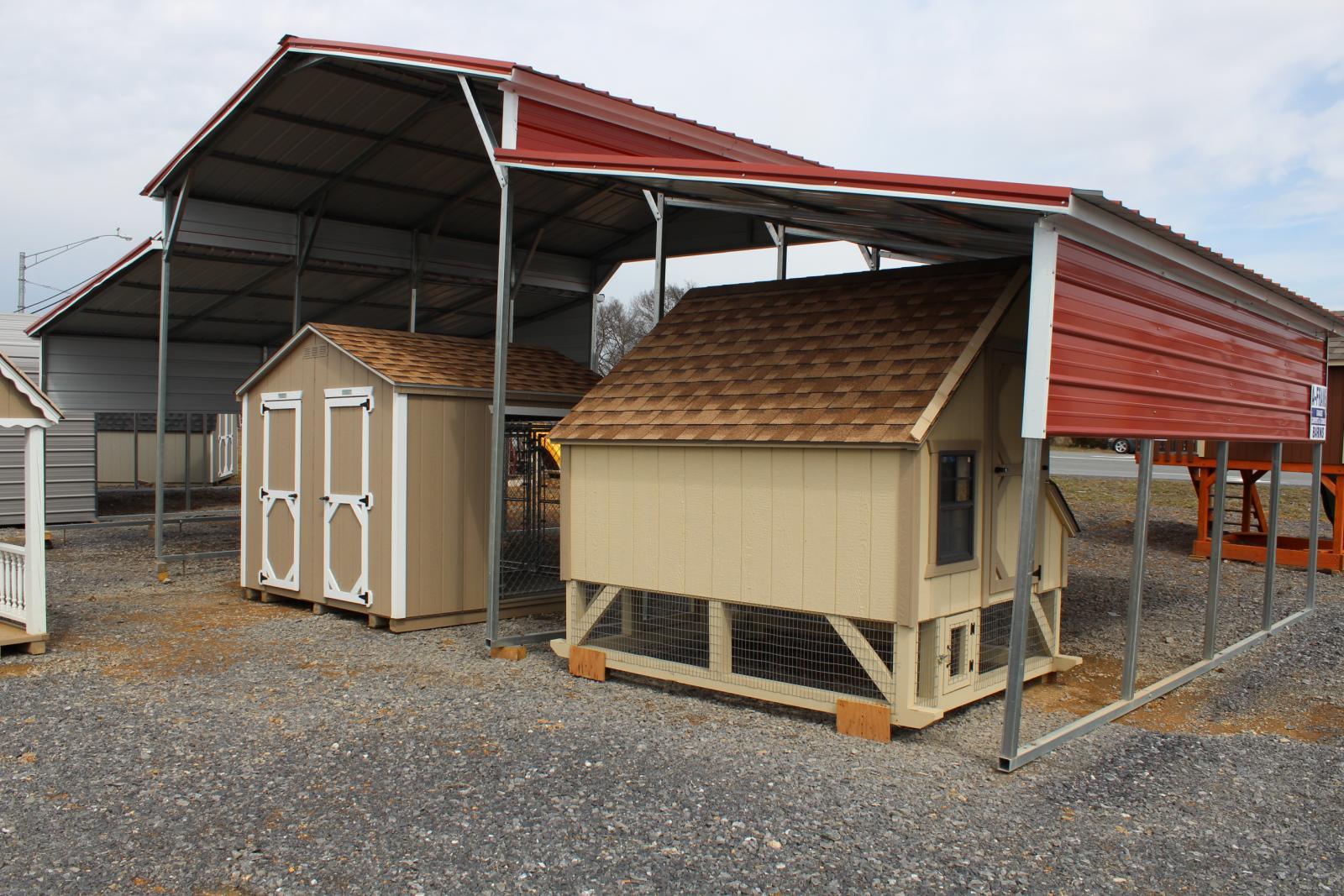 Pine Creek 46x21 Barn Style Carport Shed Sheds In