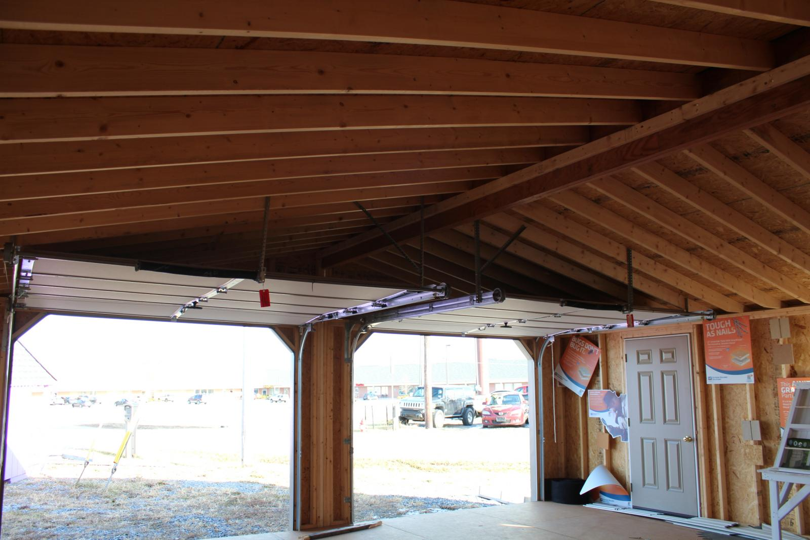 24x24 double car garage pine creek structures