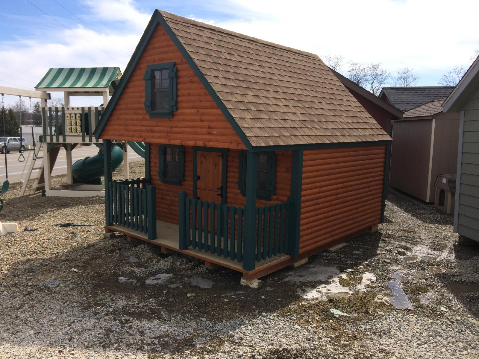 10x12 Wolf Log Cabin Playhouse Pine Creek Structures