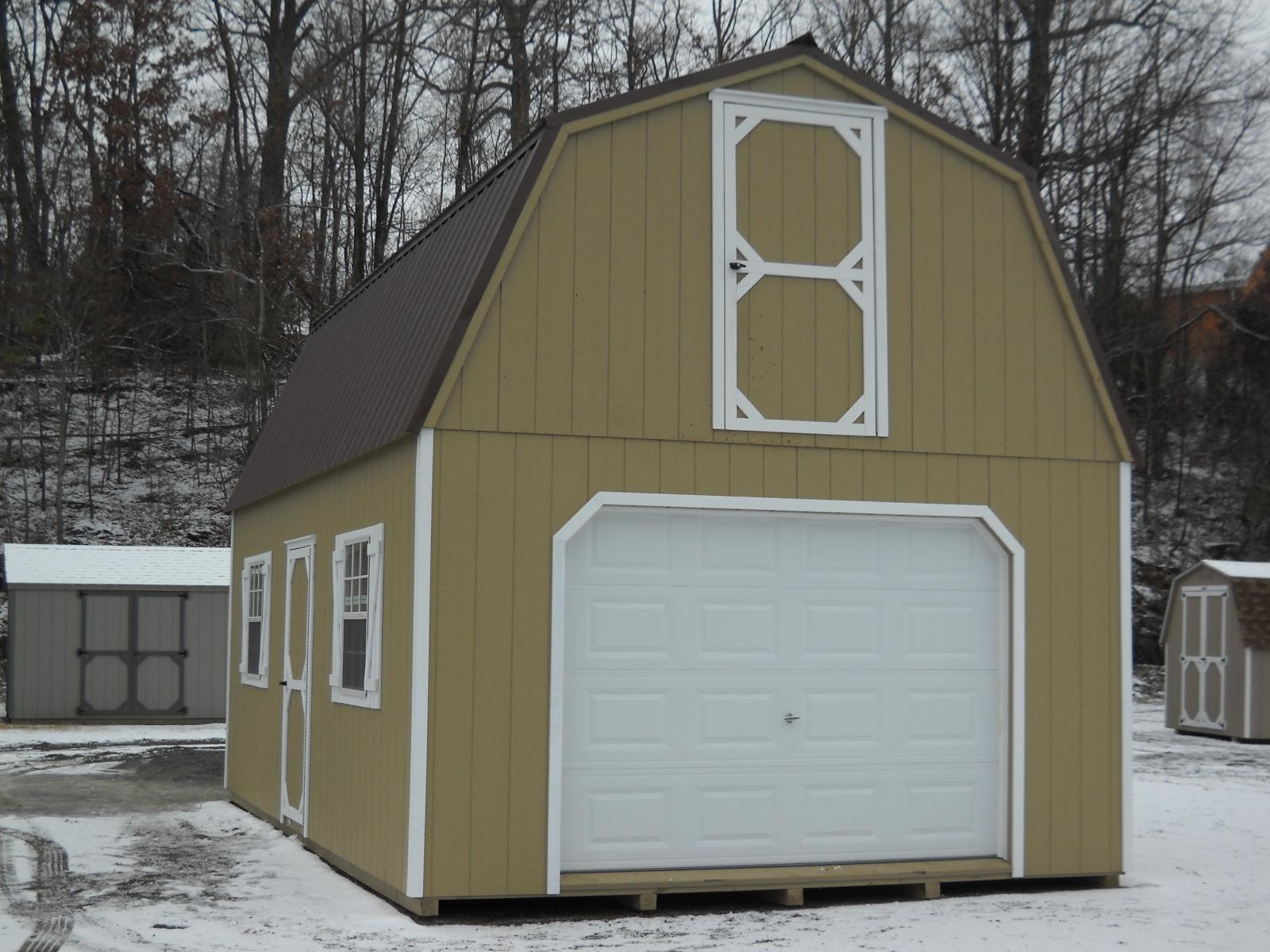 14x24 two story gambrel garage pine creek structures for Gambrel barn prices