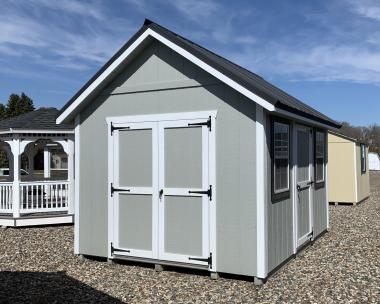 10x12 Cape style storage shed by Pine Creek Structures