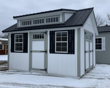 10x14 Cape style storage shed by Pine Creek Structures