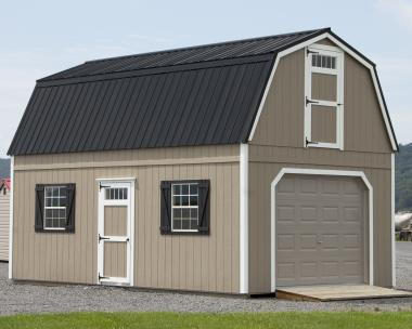 14x24 Two-Story Gambrel Garage in stock at Pine Creek Structures of Berrysburg, PA