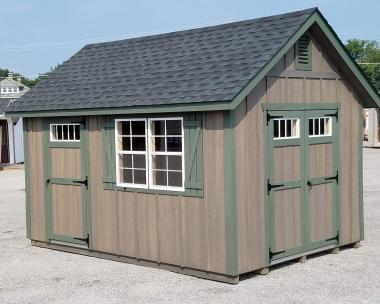10x14 Cape Cod with two 24x36 Windows