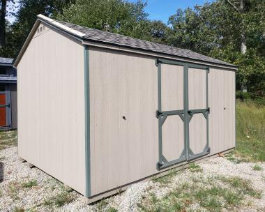 10x14 Economy Peak Storage Shed in stock in Pine Creek Structures of Egg Harbor City, New Jersey