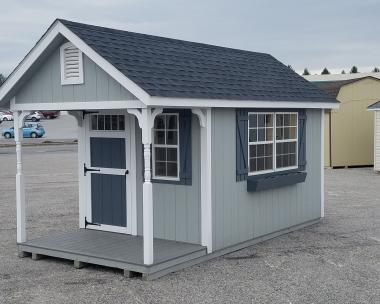 8x16 Cape Cod with 3x6 Door with Transom Windows