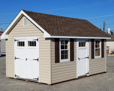 "10x16 Cape Cod with 36"" Single Door with Transom Windows"