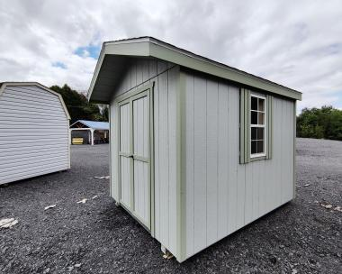 8x10 Peak Front Entry Shed Exterior