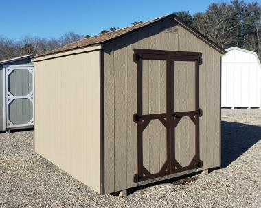 8x10 Economy Style Peak Storage Shed in stock at Pine Creek Structures of Egg Harbor, New Jersey