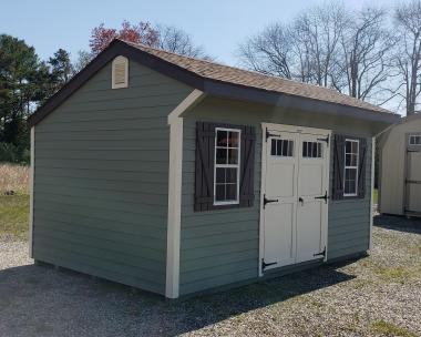 10x16 Cottage Style Storage Shed with Shiplap Siding