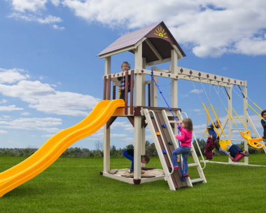 Pine Creek Vinyl Swing Set Cubbys Fort in Martinsburg WV 25404