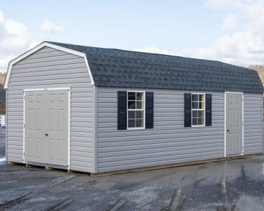 12x24 Gambrel Barn Style Storage Shed with Vinyl Siding from Pine Creek Structures