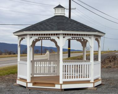 12x12 Vinyl Gazebo for sale at Pine Creek Structures of Spring Glen