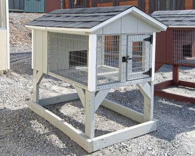 Grey Small Animal Hutch from Pine Creek Structures