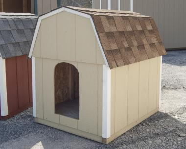 Beige Large Dog Box built by Pine Creek Structures in Central PA