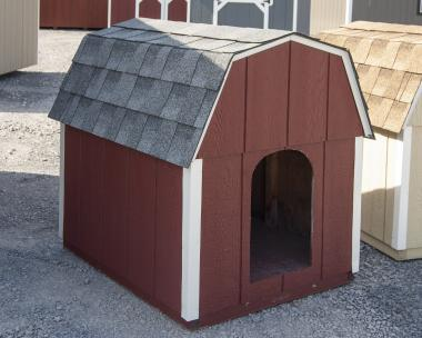 Red Large Dog Box crafted by Pine Creek Structures of Spring Glen, PA