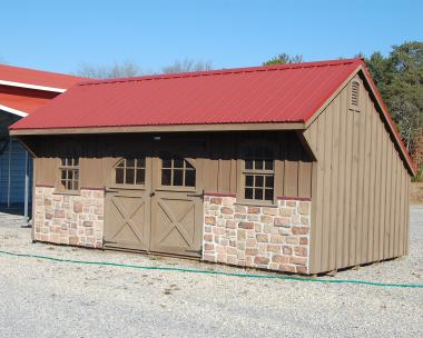 12x20 Board & Batten Carriage House Storage Shed