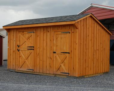 10x16 Enclosed Horse Barn in stock at Pine Creek Structures