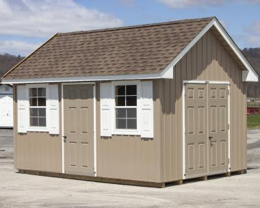 10x14 Vinyl Board & Batten Cape Cod Storage Shed