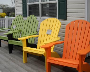Pine Creek Structures Poly Furniture Adirondack Chair