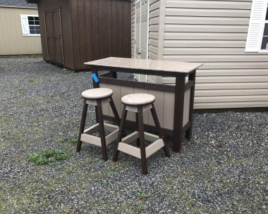 Poly Bar and Stool Set