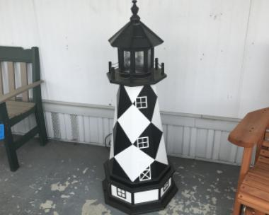 Cape Lookout 4' Hybrid Lighthouse With Base and Solar LED light