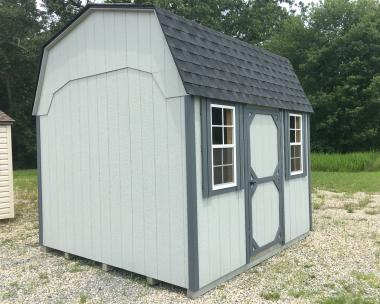 10' x 10' Dutch Barn Storage Shed with Child's Loft with Railing and Ladder Inside