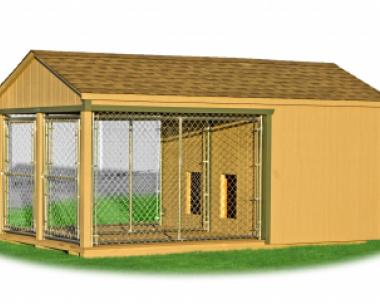 8 x 14 Large Double Kennel