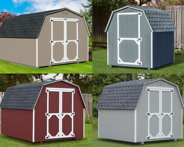Custom Order a Madison Series (economy) mini barn style storage shed from Pine Creek Structures of Egg Harbor