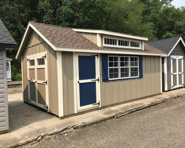 12x20 Cape Cod with Dormer and LP Board N Batten Siding