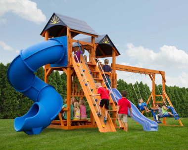 Pine Creek, The Captain's Castle Wood Swing Set in Martinsburg WV 25404
