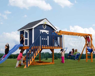 Pine Creek, The Pirate's Palace Wood Swing Set in Martinsburg WV 25404