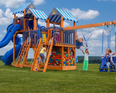 Pine Creek, The Rocket Launcher Xtreme Wood Swing Set in Martinsburg WV 25404