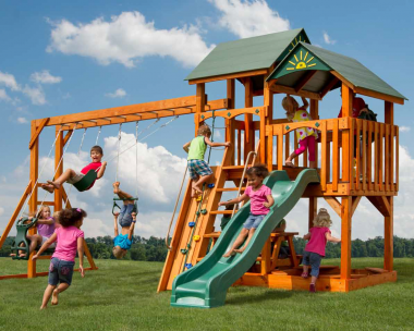 Pine Creek, The Safe Harbor Wood Swing Set in Martinsburg WV 25404