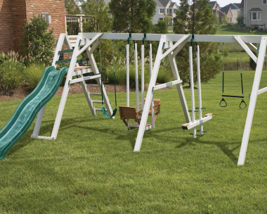 Pine Creek, The Wish Bears Dream Vinyl Swing Set in Martinsburg WV 25404