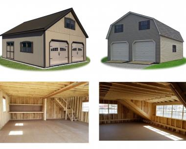 Two-Car Two-Story Garage