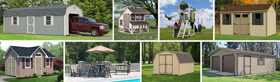 pine creek structures product line includes garages storage sheds chicken coops outdoor patio - Garden Sheds Ny